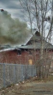 Baker Fire Face in the smoke