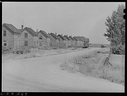 Company houses at Franklin Mine, Michigan